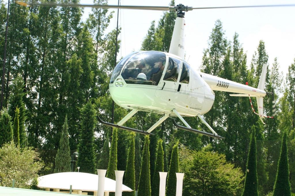 ヘリコプター入場